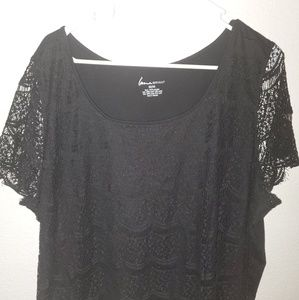 Beautiful Black Lace Top Lane Bryant Size 22/24